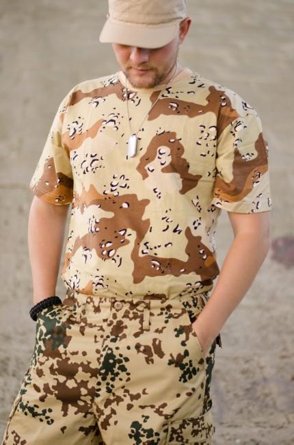 bd24d5aaefa6 MFH maskáčové tričko vzor 6 col desert
