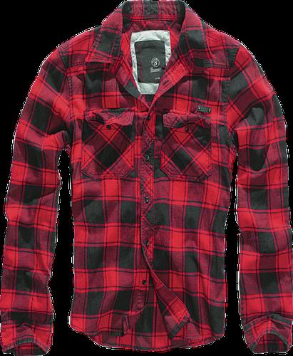 Brandit Checkshirt košile, červeno černá