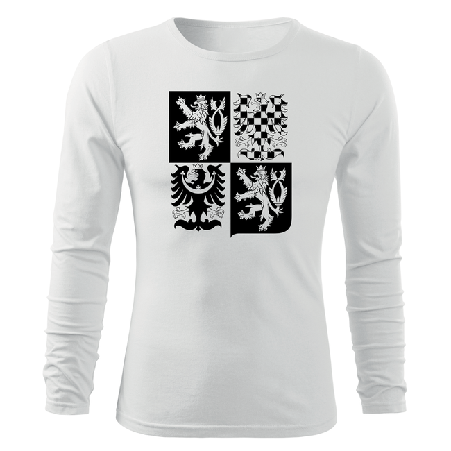 9e0ad4395 ... O&T Fit-T tričko s dlouhým rukávem český velký znak, bílá 160g/m2.  Zobrazit v plné velikosti