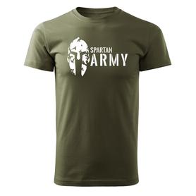 O&T krátké tričko spartan army, olivová 160g/m2