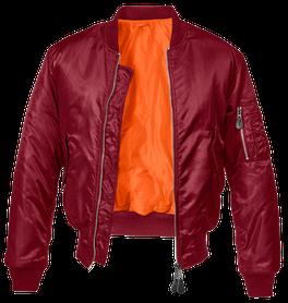 Brandit MA1 bomber pilot bunda, rudá