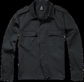 Brandit US košile s dlouhým rukávem, černá