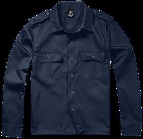Brandit US košile s dlouhým rukávem, navy