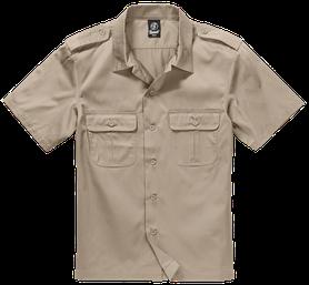 Brandit US košile s krátkým rukávem, béžová