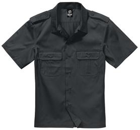 Brandit US košile s krátkým rukávem, černá
