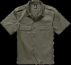 Brandit US košile s krátkým rukávem, oliv