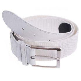 Foster Pásek s kovovou přezkou, elastický, bílý, 3.6cm