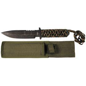 Fox Outdoor pevný nůž s Parakordom, Stonewashed