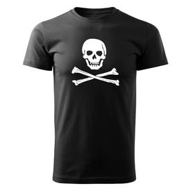 O&T krátké tričko pirat, černá 160g/m2