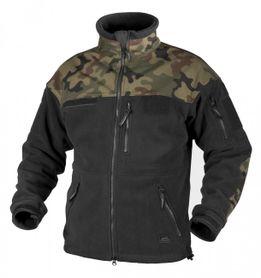 Helikon Infantry flísová bunda, černá/woodland, 330g / m2