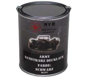 MFH army barva, černá matná, 1 litr