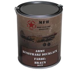 MFH army barva, hnědá matná, 1 litr