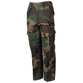 MFH BDU dětské kalhoty vzor woodland