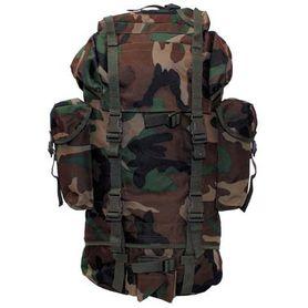 MFH BW nepromokavý batoh vzor woodland 65L