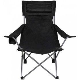 MFH Delux rybářská židle, černá