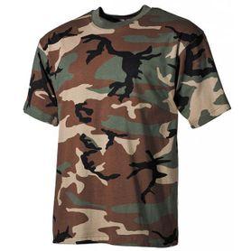 MFH dětské tričko vzor woodland, 160g/m2