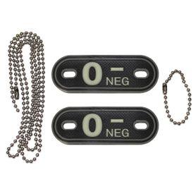 MFH Dog-Tags psí štítky  0 NEG, 3D PVC