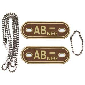 MFH Dog-Tags psí štítky  AB NEG, 3D PVC