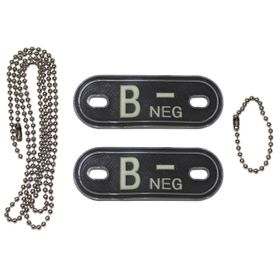 MFH Dog-Tags psí štítky  B NEG, 3D PVC