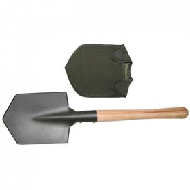 MFH lopata s dřevěnou rukojetí a pouzdrem