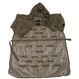 MFH maskovací plášť s poutky a kapucí, olivový