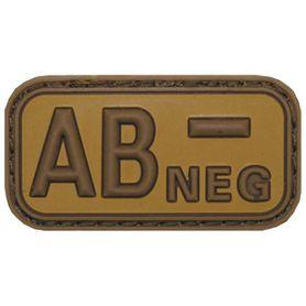 MFH nášivka krevní skupina 3D AB negativní khaki 5x2,5cm