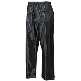 MFH nepromokavé kalhoty polyester s PVC černe