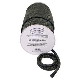 MFH polypropylénové lano 60 metrů 9mm olivové