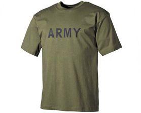 MFH tričko s nápisem army olivové, 160g/m2