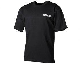 MFH tričko s nápisem security černé, 160g/m2