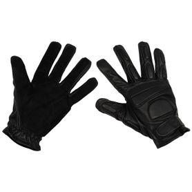 MFH Widlle kožené rukavice černé s polstrováním