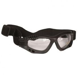 Mil-Tec Commando průhledné ochranné brýle, černé