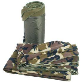 Mil-Tec deka Poly-Fleece, 200x150 cm s obalom Woodland