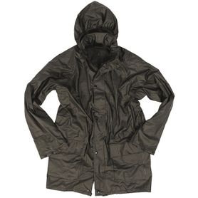Mil-tec nepromokavá bunda do deště, černá
