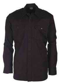 Mil-tec Ripstop košile s dlouhým rukávem, černá
