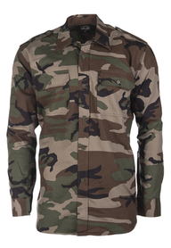 Mil-tec Ripstop košile s dlouhým rukávem, woodland