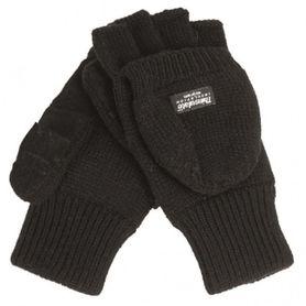 Mil-Tec rukavice s odnímatelnou prstovou částí, černé