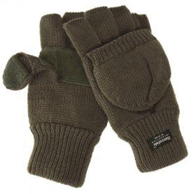 Mil-Tec rukavice s odnímatelnou prstovou částí, olivové