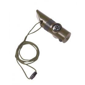 Miltec signalizační píšťalka 6v1, olivová
