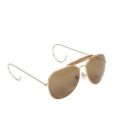 Mil-tec slunečné okuliare Air Force s púzdrom, hnedé