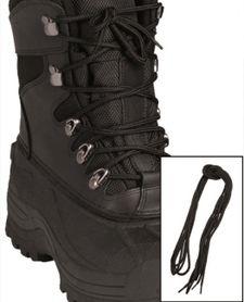 Mil-Tec Co tkaničky do bot, černé 220cm