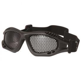 Mil-Tec taktické brýle s kovovou očnicí, černé