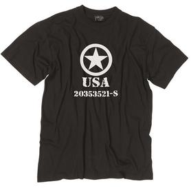 Mil-Tec tričko allied star černé, 145g/m2