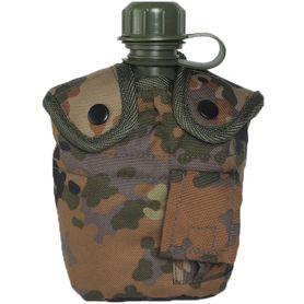 Mil-Tec US polní láhev vzor Flecktarn 1l s ALU miskou
