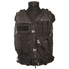 Mil-Tec USMC taktická vesta s páskem, černá