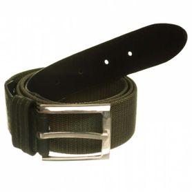 Foster Pásek s kovovou přezkou, elastický, olivový zelený, 3.6cm