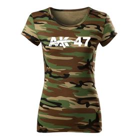 O&T dámské krátké tričko ak47, maskáčová 150g/m2