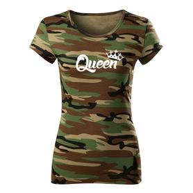 O&T dámské krátké tričko queen, maskáčová 150g/m2