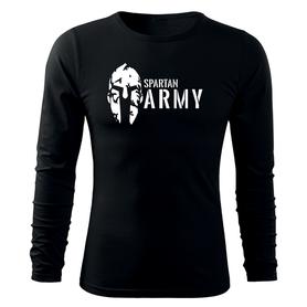 O&T Fit-T tričko s dlouhým rukávem spartan army, černá 160g / m2