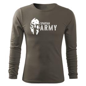O&T Fit-T tričko s dlouhým rukávem spartan army, olivová 160g/m2